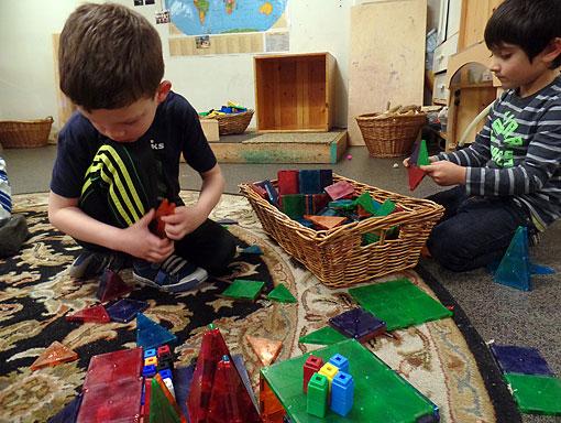 Elementary School Play With Blocks