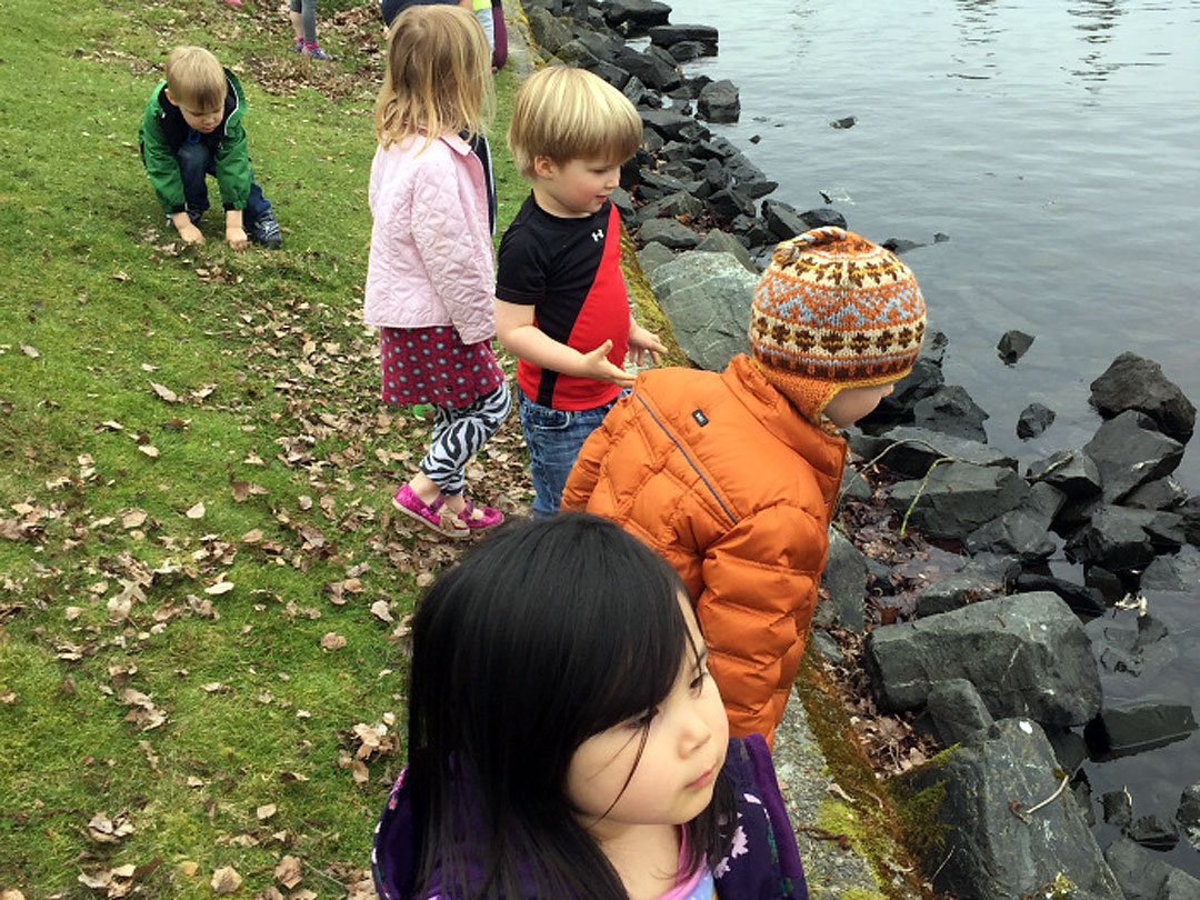 Preschoolers enjoy the canal.