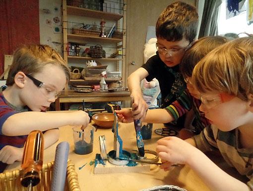 Preschool Students Create a Craft