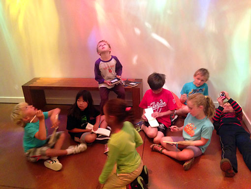 Elementary Summer Camp Students at a Museum